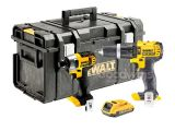 Dewalt 18V 1 x 2.0Ah XR DCD785 Combi Drill & DCF885 Impact Driver Kit in D300 Kitbox - NO CHARGER